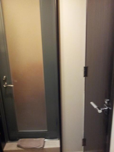 新宿ジャルディーノ(新宿区/ラブホテル)の写真『トイレと浴室の扉』by 少佐
