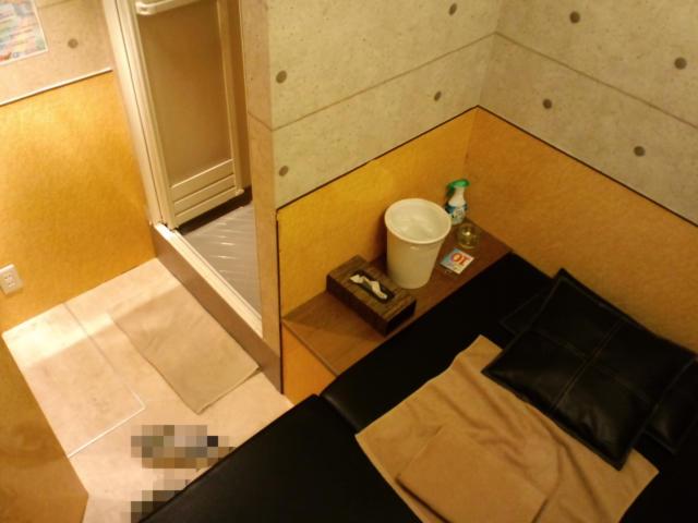 (削除か閉店)レンタルルーム ラナイ(新宿区/ラブホテル)の写真『10号室 ベッドの足元角から。左に見えるのはシャワー室入り口。入り口は左下。』by ニューロン