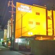HOTEL 錦(全国/ラブホテル)の写真『ホテル錦 夜の外観1』by エロスギ紳士