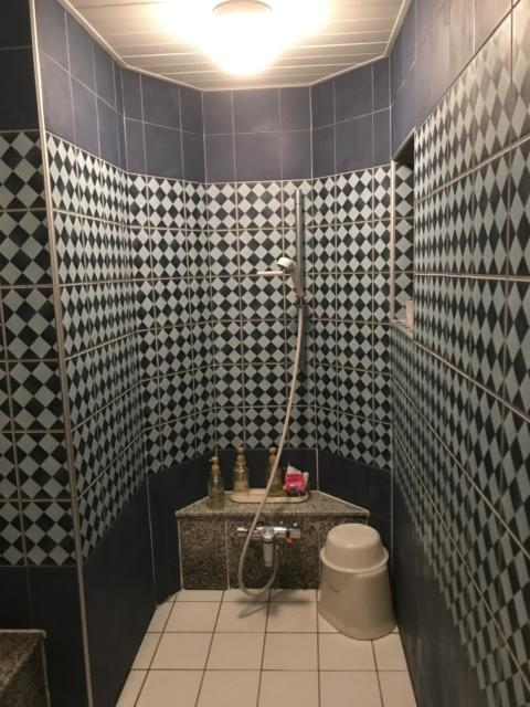 ホテル プラザK(横浜市港北区/ラブホテル)の写真『201号室の浴室①』by 少佐