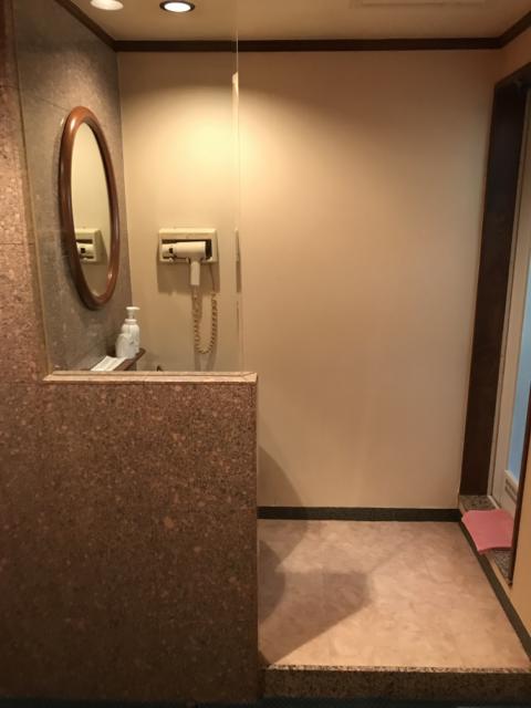 SUN PALACE(台東区/ラブホテル)の写真『(205号室)左が洗面台、右が浴室』by こーめー