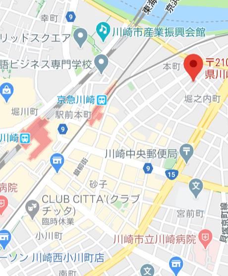 マップ|クラブハウスシェル(高級ソープランド/川崎堀之内)