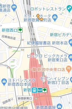 マップ 世界のあんぷり亭 新宿総本店(激安オナクラ/新宿歌舞伎町周辺)