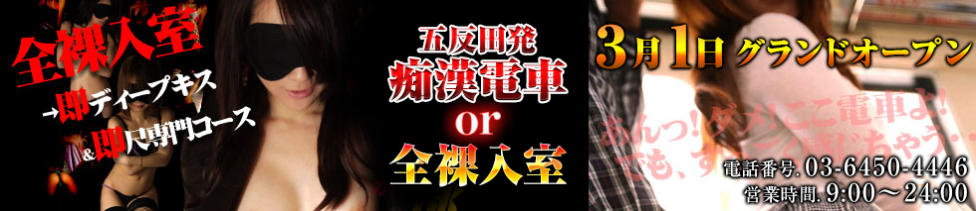 五反田発 痴漢電車or全裸入室(五反田周辺/デリヘル)