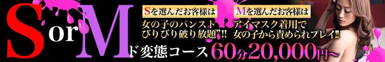 【S or M!!?】 ド変態コース -アナタはS? それとも M!!?- A女E女 EX(関内/デリヘル)