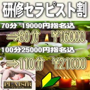 研修セラピスト割 PLAISIR(プレジール)(西川口/デリヘル)