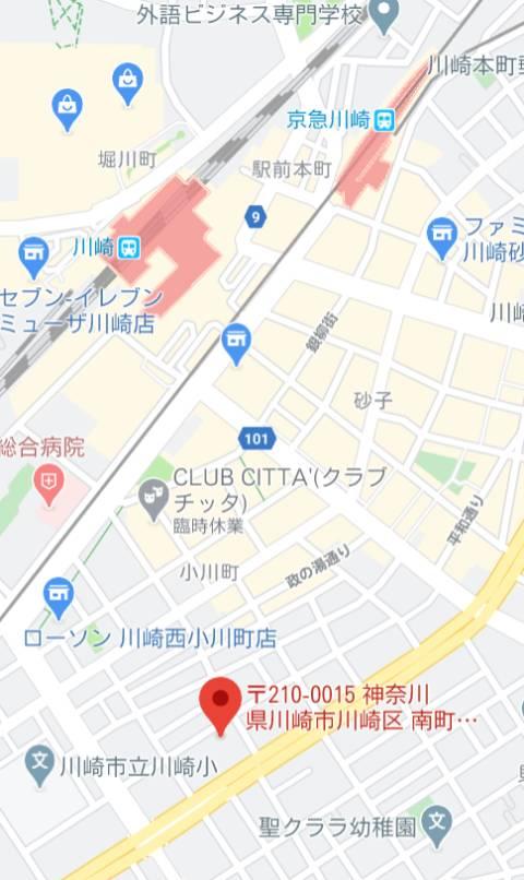 マップ|シャングリラ(最高級ソープランド/川崎南町)