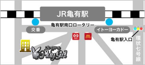 マップ|プレイガール(亀有)(ソープランド/亀有)