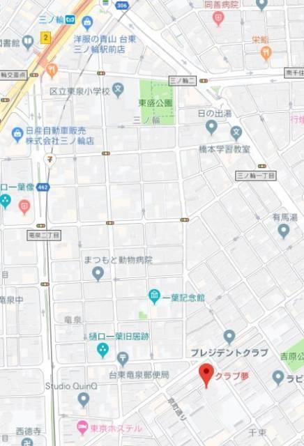 マップ|Club夢(ソープランド/吉原)