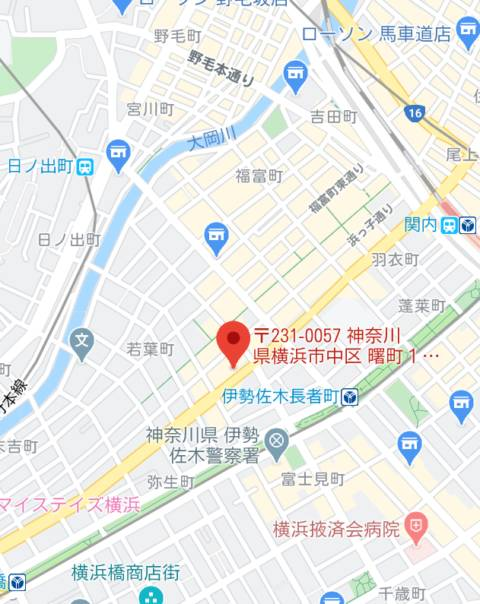 マップ|横浜熟女MAX(店舗型ヘルス/横浜曙町)