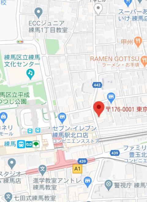 マップ LIP CREAM(ピンサロ/練馬)