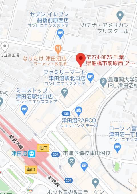 マップ|るーじゅっ(ピンサロ/津田沼)