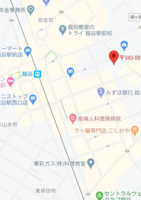 マップ 越谷ハイパーサロン(ピンサロ/越谷)