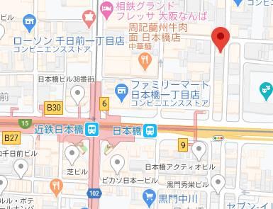 マップ 汁婆クラブ(熟女ホテヘル&デリヘル/日本橋発・近郊)