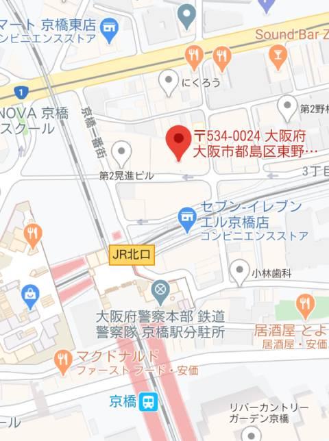 マップ インパクト(ピンサロ/京橋)