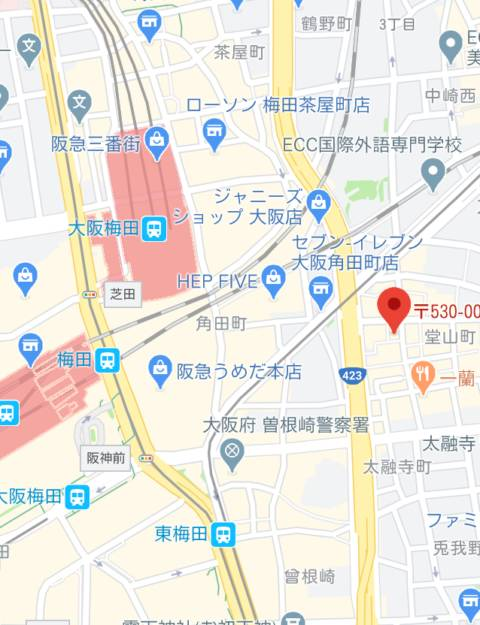 マップ|梅田堂山女学院(ツーショットキャバクラ/梅田)