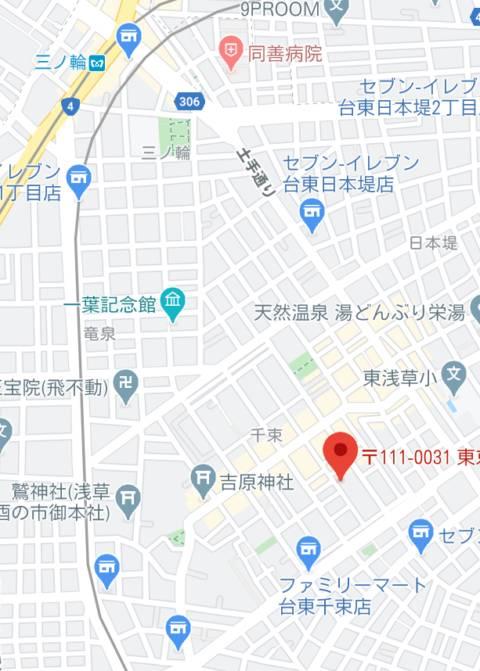 マップ|水色りぼん(ソープランド/吉原)
