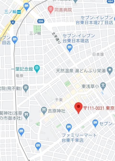 マップ|Queen Angel(クイーンエンジェル)(ソープランド/吉原)