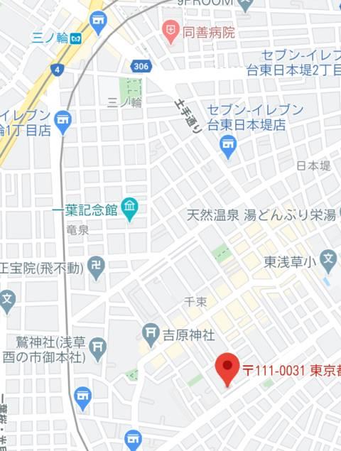 マップ|エンジェルシリカ(ソープランド/吉原)