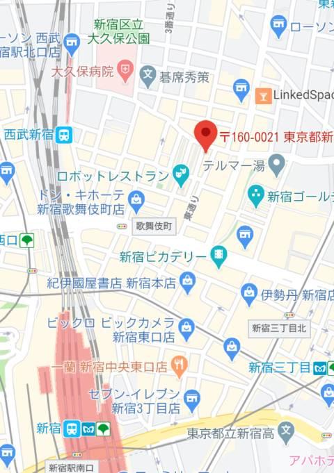 マップ|和風パブ大江戸(セクキャバ/新宿歌舞伎町)