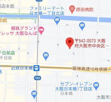 マップ|VERY'S日本橋(ベリーズ日本橋)(ホテヘル/日本橋)