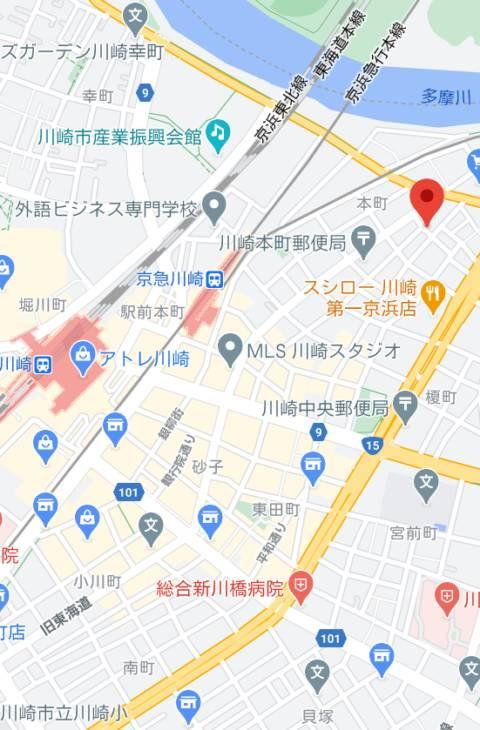 マップ|コスプレ女帝織姫(ソープランド/川崎堀之内)