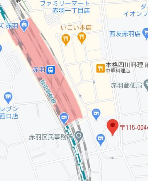 マップ|キューティーン(ピンサロ/赤羽)