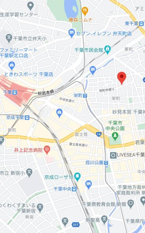 マップ 不夜城(千葉栄町)(ソープランド/千葉栄町)