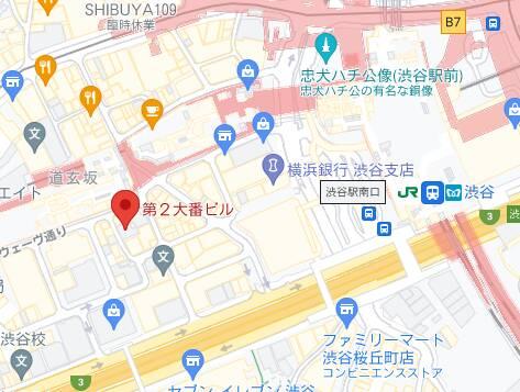 マップ|ハニカミ(ピンサロ/渋谷)