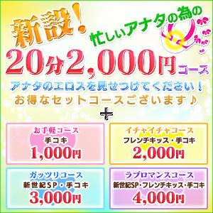 新設!忙しいアナタの為の20分2,000円コース 新世紀(越谷/デリヘル)